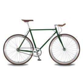 Bicicletta Uomo Scatto Fisso - Verde