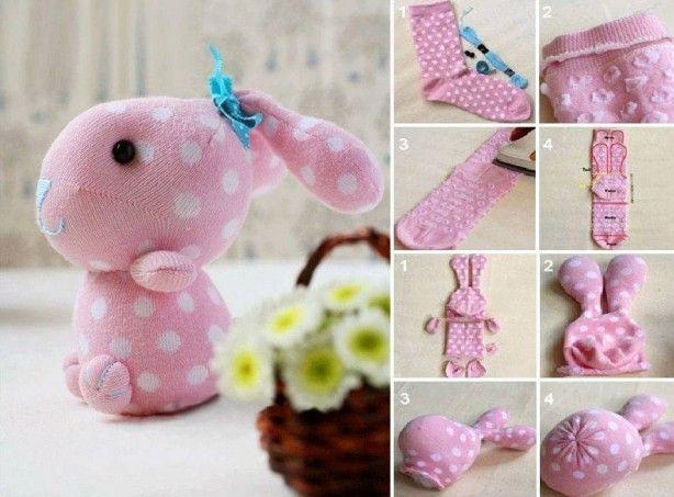schattige konijntje sok      ....... Ik wist dat ik moest het op te slaan voor later...