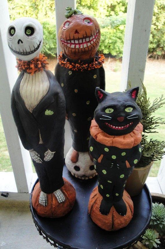 Paper Mache Halloween Decorations