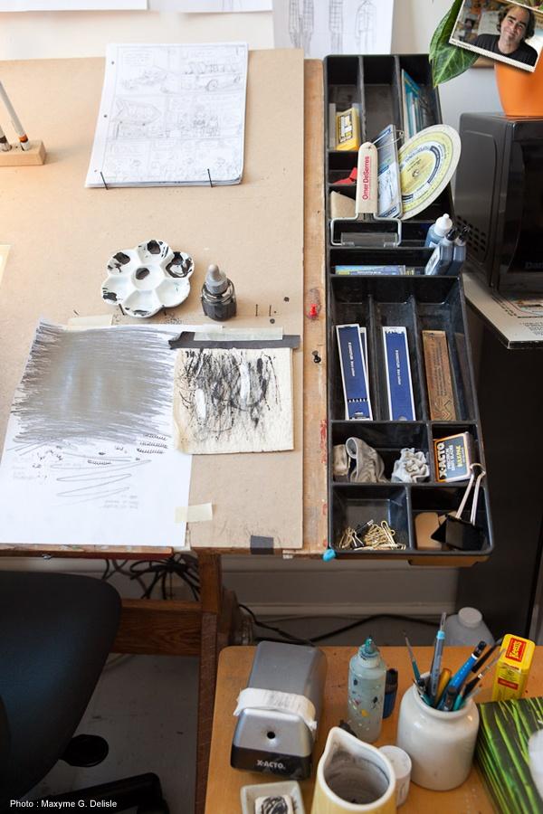 Bureau d'écriture de MICHEL RABAGLIATI  | Photo: Maxyme G. Delisle