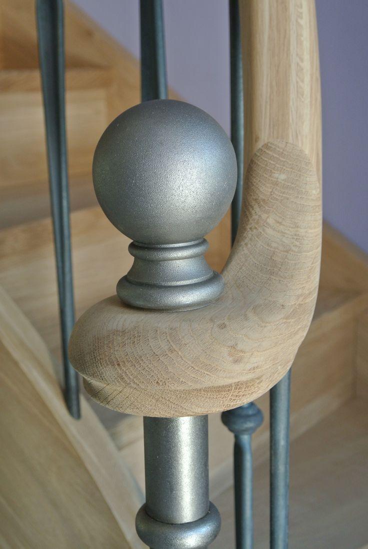 16 best escalier bois prestige luxury staircase images - Boule d escalier en bois ...