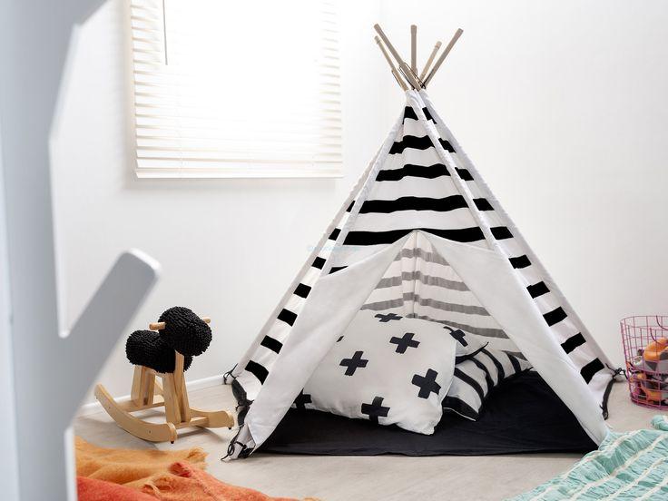 Mocka Teepee | Kids Playtime Toys | $99.95 in stripes or crosses