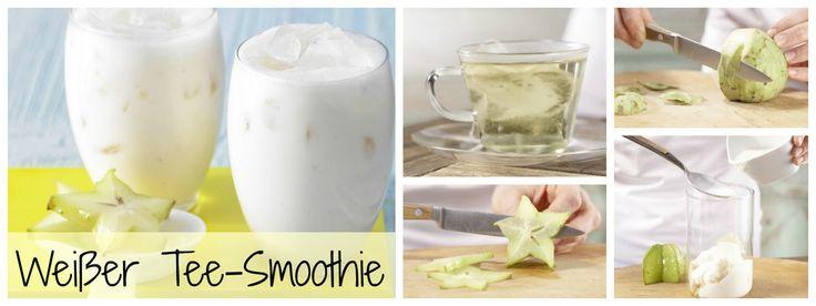 Erfrischender Drink aus exotischen Früchten mit Joghurt : Weißer Tee-Smoothie mit Karambole und Cherimoya | http://eatsmarter.de/rezepte/weisser-tee-smoothie