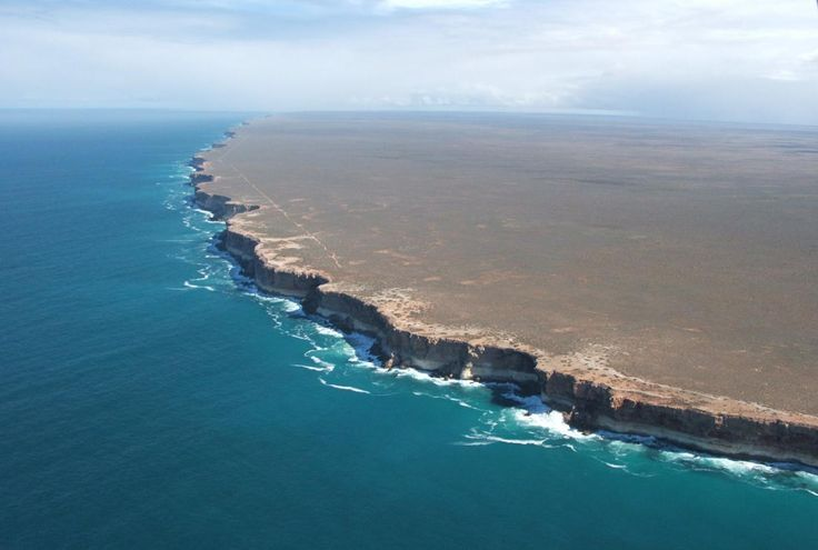 Photograph taken of the Nullarbor Cliffs in southern Australia.