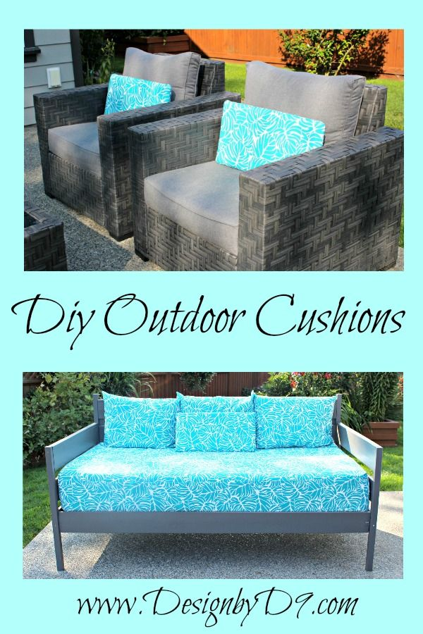 Make Your Own Outdoor Cushions For Patio Furniture And Coordinate Mis Matched Pieces While Adding A Splash Of Colour