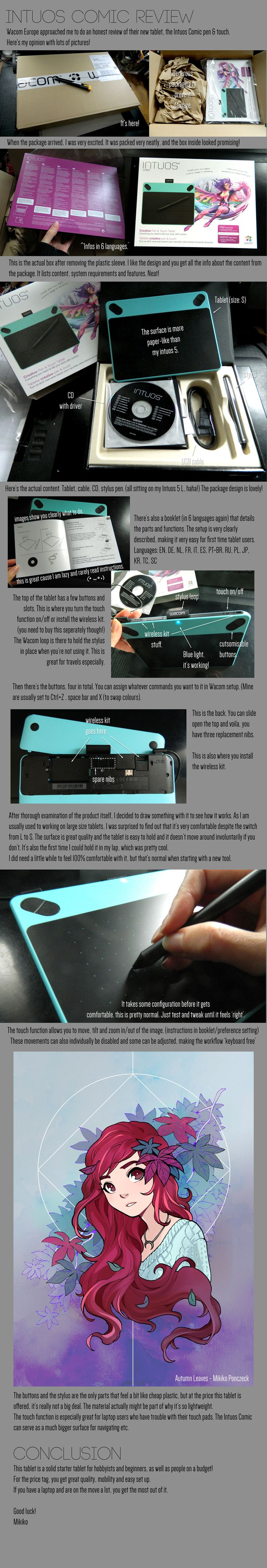 Wacom Intuos Comic Review by Zombiesmile on DeviantArt