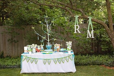 Lucy Betty: Backyard Bridal Shower- [Blue & Green]