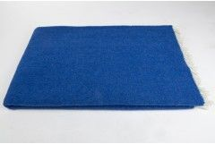 Manta 100% Pura Lana Virgen color azul marino