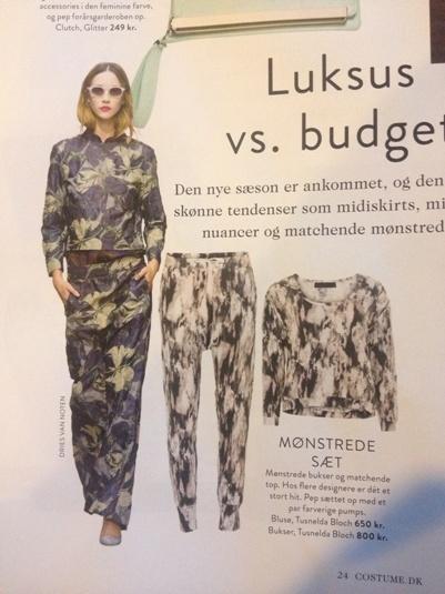 Tusnelda Bloch reclaimed cotton featured in Costume. Find them in our webshop    http://www.butikbutik.dk/products/tusnelda-bloch-reclaimed-cotton-sweat-shirt    #butikbutik #danishdesign #spaceprint #SS2013