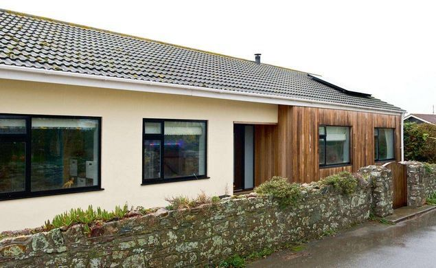 The contrast cladding material offers up loads of ideas for extending a bungalow.