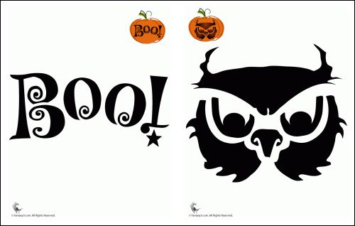 17 best ideas about owl templates on pinterest fondant for Boo pumpkin ideas