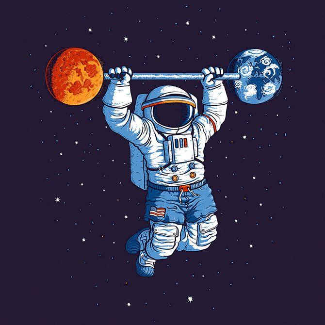 Космос смешные рисунки