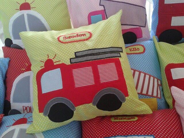 Fire truck pillow