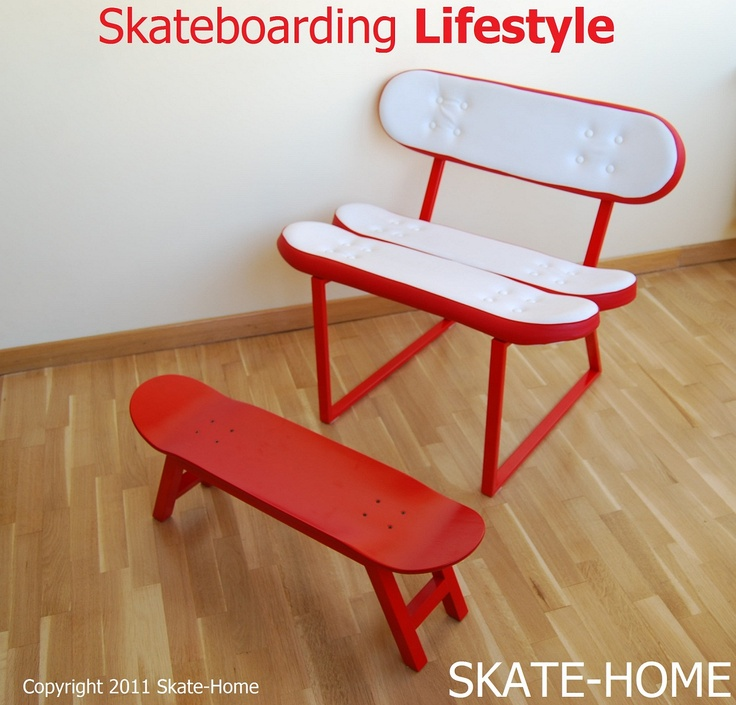 Skateboarding Lifestyle House Skateboard Bench Seat Chair
