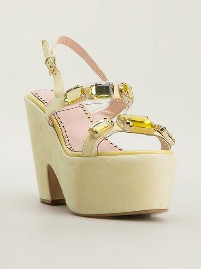 Moschino - embellished platform sandal 6