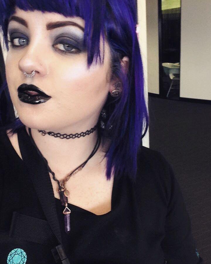 Ice blue #inglot #highlight #purplehair #makeup #goth #makeup #mua #alternative #blacklips
