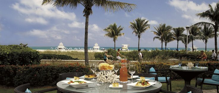 Savor award-winning dishes and creative cocktails at the area's only oceanfront restaurant and lounge at The Ritz-Carlton, South Beach!: The South, Ritz Carlton South, Miami Beach, Oceanfront Restaurant, Luxury Destinations, Ritzcarlton South, Beaches Club, Dilido Beaches, South Beaches