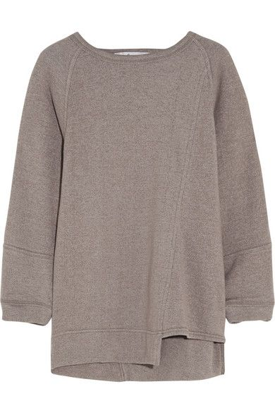 ADIDAS BY STELLA MCCARTNEY Yoga cotton-jersey sweatshirt- Cute style but what a blah color...