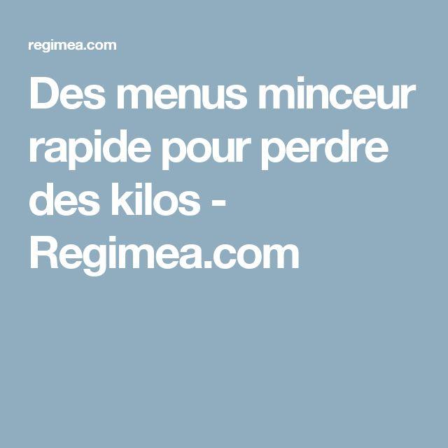 Des menus minceur rapide pour perdre des kilos - Regimea.com