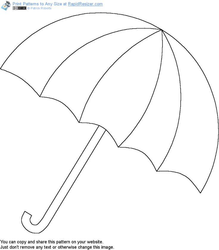 Free Umbrella pattern. Get it and more free designs at http://Online.RapidResizer.com/guildpatterns.php