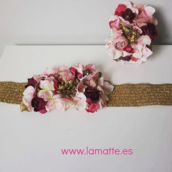 Hombrera y cinturón de flores. Fiel a tío #accesories #exclusives #luX #invitadaperfecta