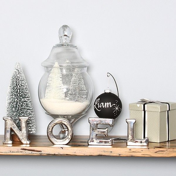 Silver Glitter Snow Tipped Mini Tree in Luxe Christmas