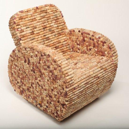 wine corks chair