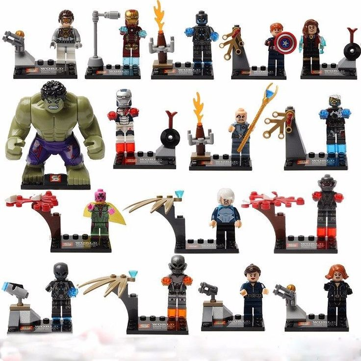 16 Sets of Minifigures Avengers Super Heroes Building Toys Scarlet Witch Toy VS #Unbranded