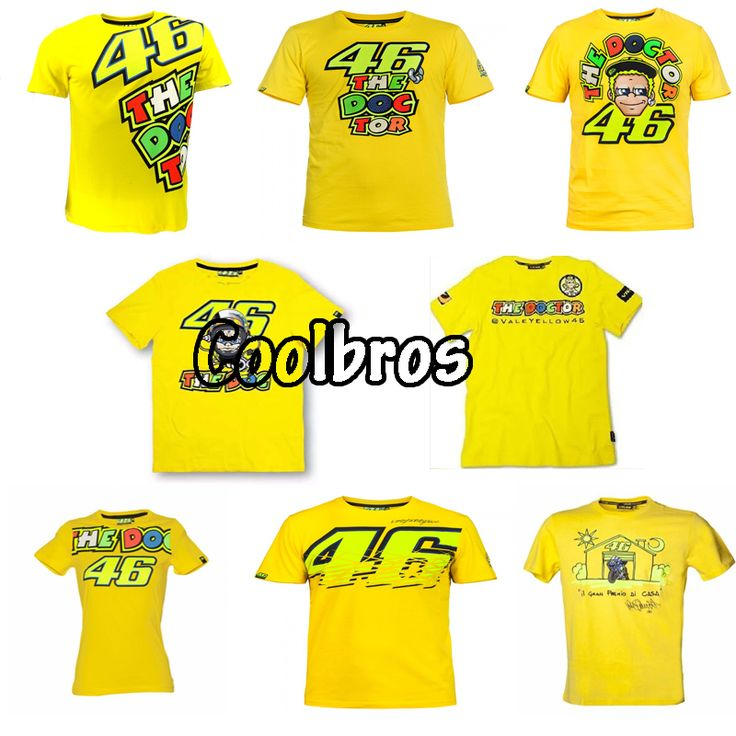 2016 Valentino Rossi VR46 46 Doktor T-shirt Moto GP Spor Sky Yarış Takım Yaşam Tarzı T Gömlek Sarı