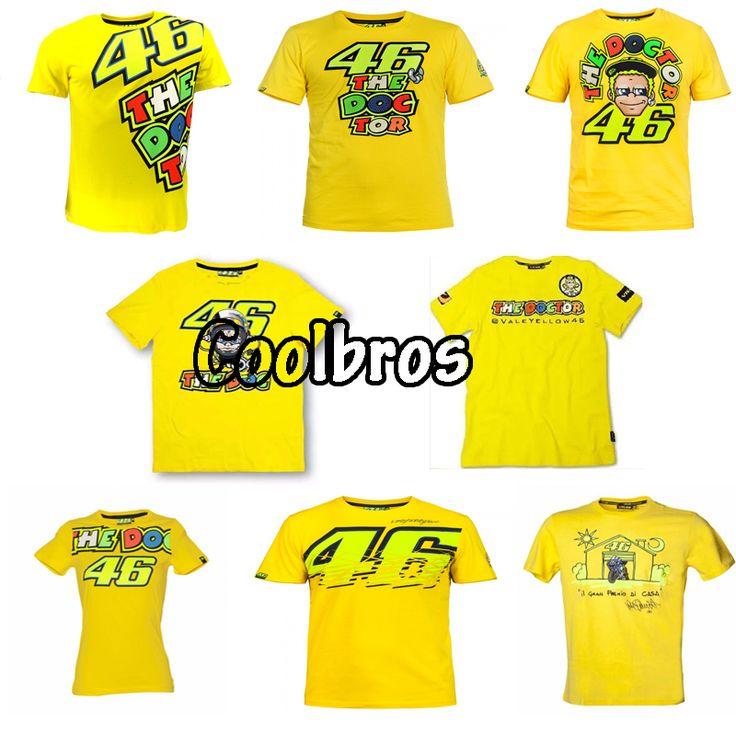 2016 Valentino Rossi VR46 46 Dokter T-shirt Moto GP Olahraga Sky Racing Team Hidup Gaya T Shirt Kuning