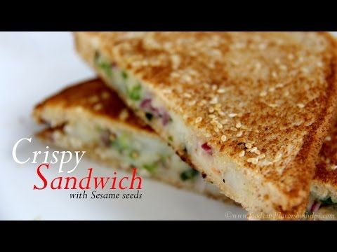 Veg Cheese Sandwich Recipe | Crispy Sandwich Recipe - Foods And Flavors