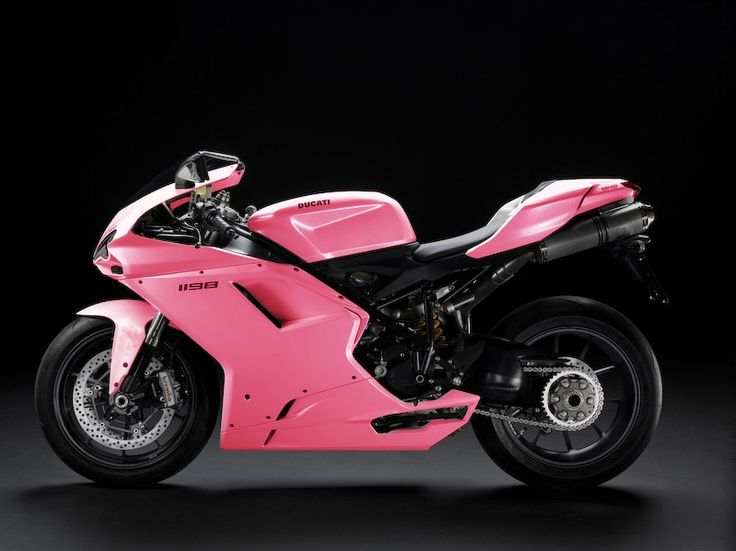 Beauty Pink Ducati 1198 <3   Can I have one?? pwwwease?? <3