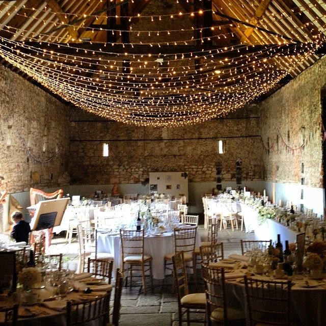 Today's wedding reception was held in this amazing medieval Monks Barn in the lovely village of Hurley in Berkshire. Wish I'd had more time to wander round - it looked so quaint! #viewfrommyharp #wedding #harpist // Lights by Oakwood Events