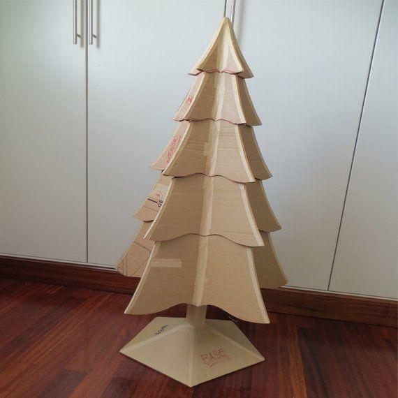 Cardboard Christmas Tree Spanish Advanced Level Cardboard Christmas Tree Christmas Tree Decorations Diy Diy 3d Christmas Tree