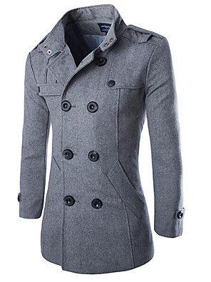 a90fa7e08 37.13  Men s Daily Vintage   Basic Fall   Winter Plus Size Long ...