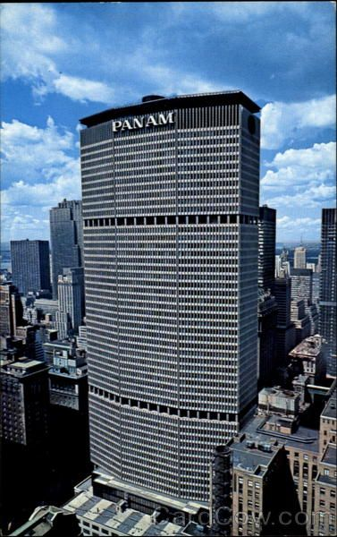 Pan Am Building, NYC (1960s) | New york buildings