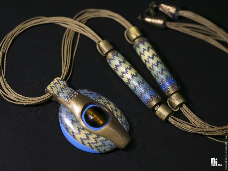 Купить Кулон богиня Исида - Кулон ручной работы, кулон из полимерной глины, кулон на шнуре