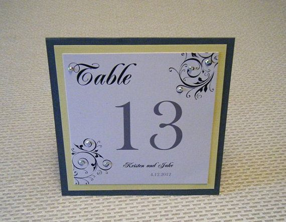 Table Numbers for Weddings by SouthernBellWeddings on Etsy $4.00 & 27 best wedding Table Tents images on Pinterest | Table numbers ...