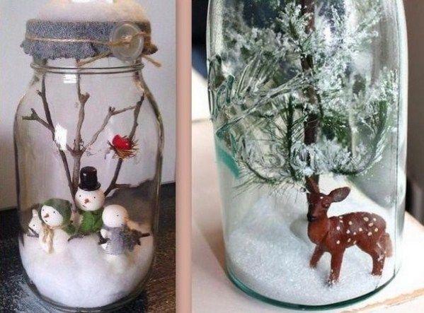 Toujours dans l'idée d'agrémenter joliment votre table de Noël ou votre intérieur, voici comment faire de jolis bocaux de Noël pour planter un décor de fêtes dans la maison..Quelques bocaux en verre et de petits accessoires décos de Noël suffiront pour réaliser de jolies boules à neige et autres...