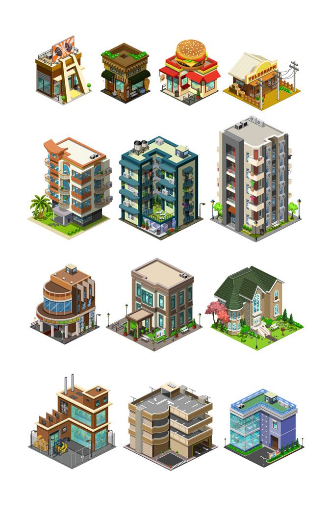 https://www.behance.net/gallery/Isometric-game-art-for-City-Friends/8482235
