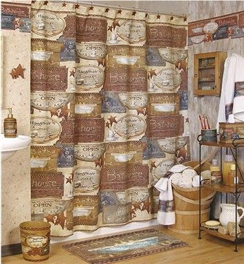 rustic country bathroom decor 17 best images about rustic primitive shower curtains on 20289