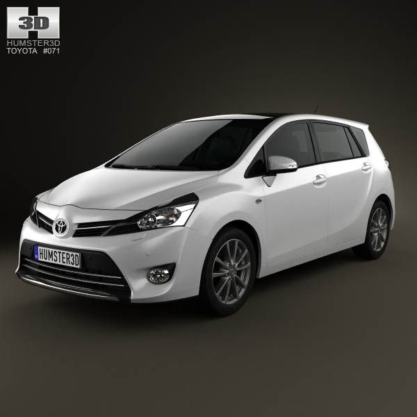 Toyota Verso (E'Z) 2013 3d model from humster3d.com. Price: $75