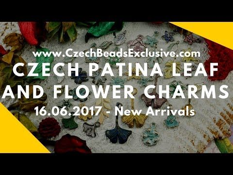 Czech Patina Leaf And Flower Charms - New Arrivals 16.06.2017 | CzechBeadsExclusive
