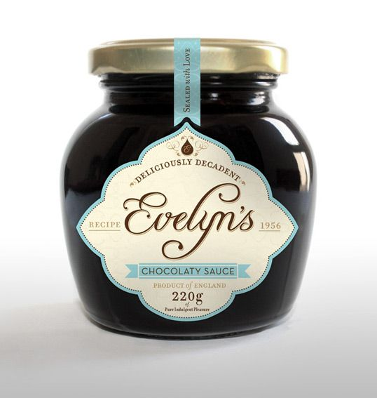 Evelyn's Chocolate Sauce : Lovely Package . Curating the very best packaging design.