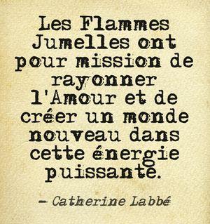 Vibrer et Co-Créer Ensemble Les Flammes Jumelles ont pour mission de se retrouver et de vibrer ensemble. Mais ce n'est pas une fin en soi. L'Amour et la vibration partagées vont bien au delà de l'amour à 2. Cette énergie libérée doit être mise au service de tous, pour Co-Créer un Monde Nouveau dans cette énergie puissante d'Amour Inconditionnel. www.flammes-jumelles.com #twinflames #flammesjumelles #amour #RenaiSens