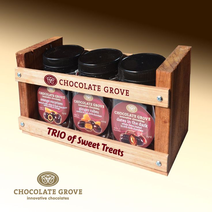 Special crate design to hold a trio of treats!