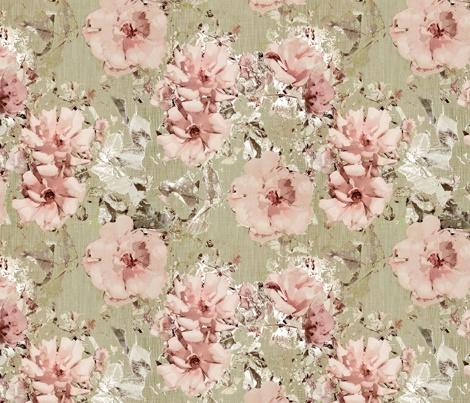 Vintage Shabby Rose © Kristopher K  2010 fabric by kristopherk on Spoonflower - custom fabric