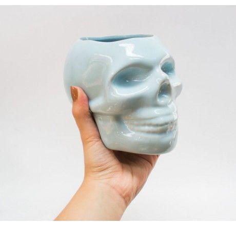 Maceta Ceramica Calavera   Venta de Plantas y Semillas   Tienda Online
