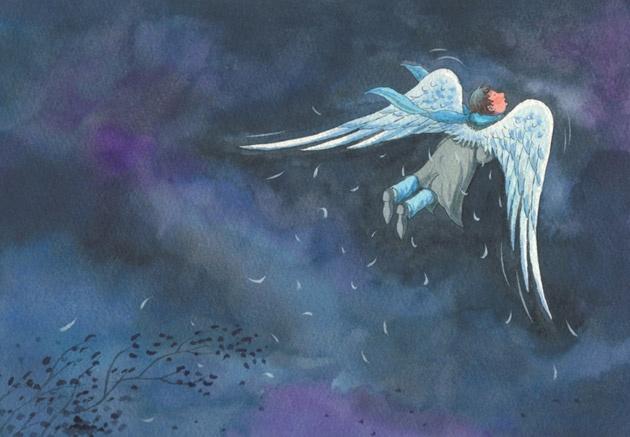 Rouwen: illustratie van Jimmy Liao