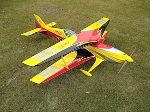 The new Miss Wind 50e was designed by Italian aerobatic pilot, Sebastiano Silvestri and the design is based on his new FAI World Championship F3A Miss Wind S PRO competition airplane. This professional ARF kit is the result of Sebastianos long research in 3D performance. Aero-Model.com